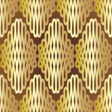 Seamless vintage gold mesh ornament Royalty Free Stock Photo