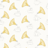 Seamless vintage gramophone pattern Royalty Free Stock Photography