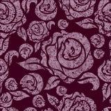Seamless vintage grunge floral pattern Royalty Free Stock Image