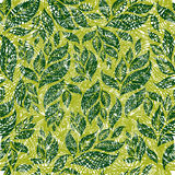 Seamless vintage grunge floral pattern with leafs Royalty Free Stock Image