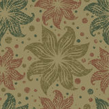 Seamless vintage grunge floral pattern with lilly Stock Photography
