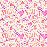 Seamless vintage heart pattern. Tileable background. Royalty Free Stock Photos