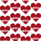 Seamless Vintage heart pattern Stock Photography