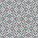 Seamless vintage Japanese style diamond check flower pattern background. Stock Photo
