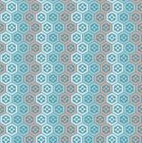 Seamless vintage Japanese style polygon flower pattern background. Stock Image