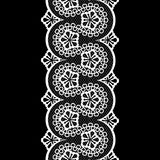 Seamless vintage lace pattern, black and white Royalty Free Stock Images