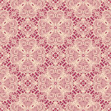 Seamless Vintage Lace Pattern (Vector). Hand Drawn Ethnic Texture Stock Photo