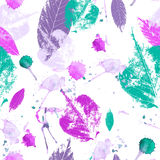 Seamless vintage leaves background Royalty Free Stock Photography