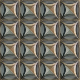 Seamless vintage metal 3d texture. Stock Image