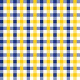 Seamless Vintage Navy Blue and Yellow Checkered Fabric Pattern Background Texture vector illustration