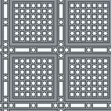 Seamless vintage ornamental tile set square with border in blue Royalty Free Stock Images