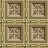 Seamless vintage ornamental tile set square Stock Photo