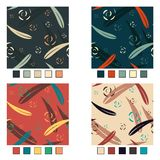 Seamless vintage paterns set. Vector illustration. Royalty Free Stock Images