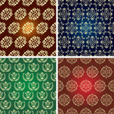 Seamless vintage pattern. Seamless vintage pattern in four fashion colorways. Vector illustration Stock Photo