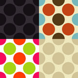 Seamless Vintage Pattern. In different color sets Stock Photography