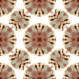 Seamless vintage pattern background Stock Photos