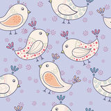Seamless vintage pattern with birds Royalty Free Stock Image