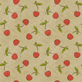 Seamless vintage pattern with cherries Stock Image