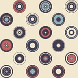 Seamless pattern of simple geometry. Retro-style illustration Royalty Free Stock Photo