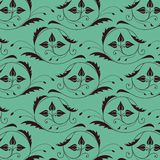 Seamless vintage pattern with color of sea Stock Image