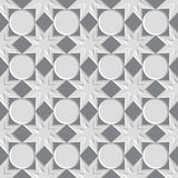 Seamless vintage pattern. Seamless vintage 3D pattern. Modern stylish texture. Repeating geometric shapes. Contemporary graphic design Royalty Free Stock Image