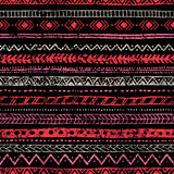 Seamless vintage pattern. Ethnic and tribal motifs. Grungy textu Stock Photos