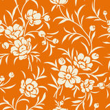 Seamless vintage pattern with flower silhouette. Floral background Stock Photos