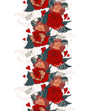 Seamless Vintage pattern with flowers Stock Image