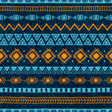 Seamless vintage pattern. Grungy texture. Blue and orange colors Stock Photos