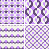 Seamless vintage pattern with hearts Stock Photos