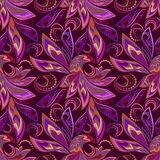 Seamless vintage pattern with magic  birds. Vector background. Stock Image
