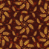 Seamless vintage pattern with mosaic from wheat flowers and whea Royalty Free Stock Photos