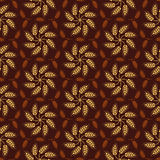 Seamless vintage pattern with mosaic from yellow wheat flowers  Royalty Free Stock Image