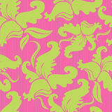 Seamless vintage pattern with orchids Royalty Free Stock Photography