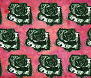 Seamless vintage pattern with roses. Royalty Free Stock Photography