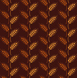 Seamless vintage pattern with rows from orange and yellow wheat Stock Photography
