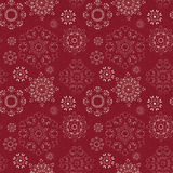 Seamless vintage pattern from snowflakes Royalty Free Stock Photo