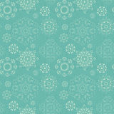 Seamless vintage pattern from snowflakes Royalty Free Stock Images