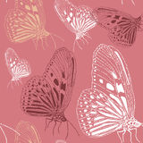 Seamless vintage pattern stylish texture. Repeating butterfly. Royalty Free Stock Images