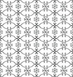 Seamless vintage pattern. Vector damask style pattern on white background Royalty Free Stock Photos