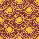 Seamless with vintage pattern. Vector illustration Stock Photo