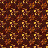 Seamless vintage pattern with wheat. Brown agricultural backgrou Stock Photography