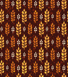 Seamless vintage pattern with wheat. Brown agricultural  Royalty Free Stock Photo