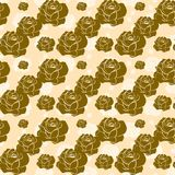 Seamless vintage patterns of roses. Vector Royalty Free Stock Photos
