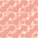 Seamless vintage patterns of roses. Vector Stock Images