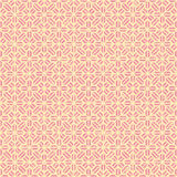 Seamless vintage pink geometry flower pattern background. Stock Images
