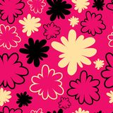 Seamless vintage pink pattern Stock Images