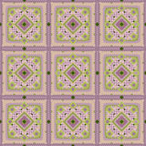 Seamless vintage pink tile vector pattern Stock Image