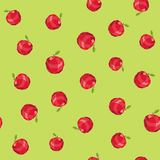 Seamless vintage polygon apple pattern Royalty Free Stock Photo