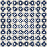 Seamless vintage polygon flower pattern worn out background. Royalty Free Stock Photos